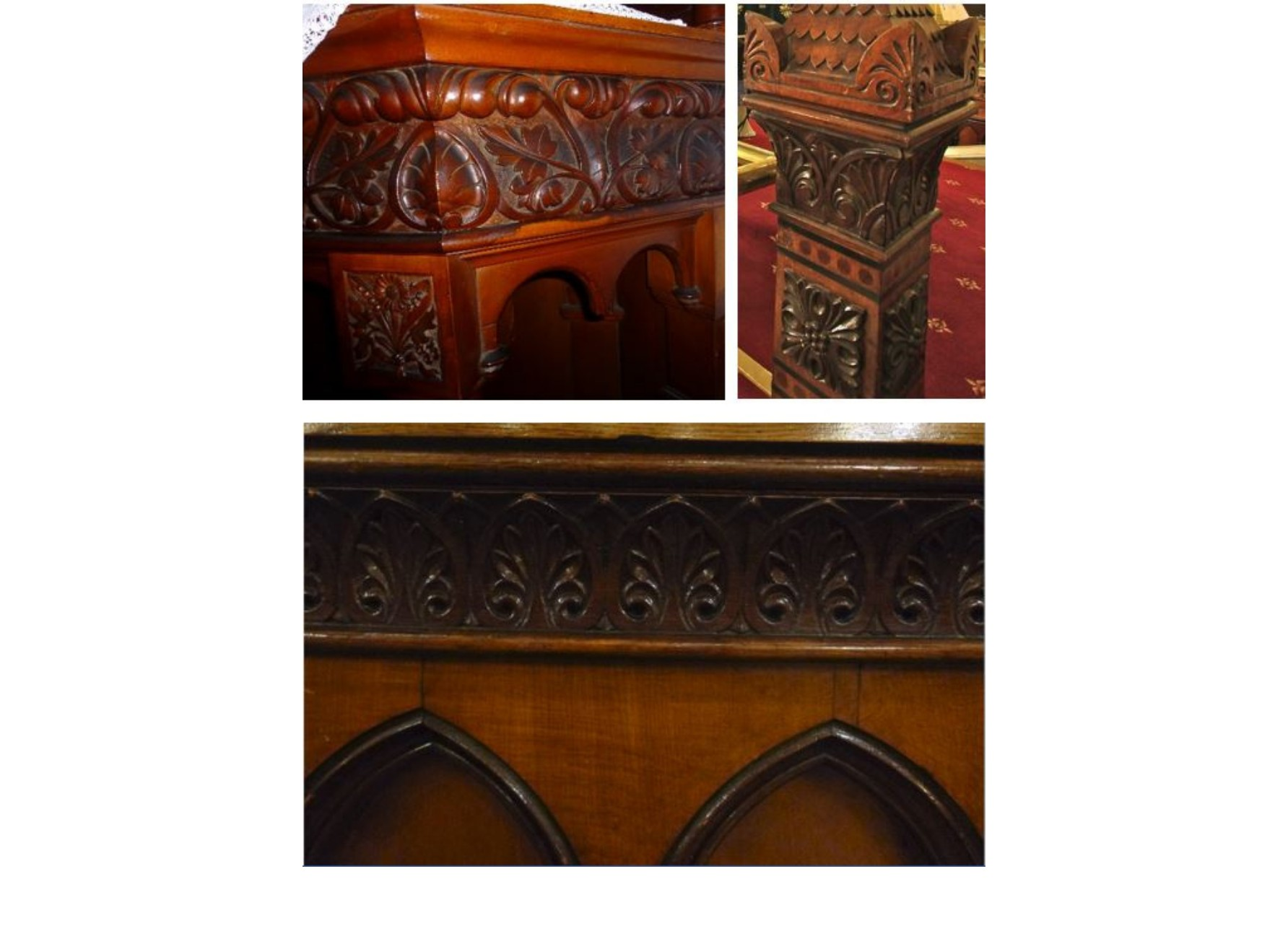 "<span class=""slider_description"">5 of 7. Furniture historians agree on local carpenters' skills shown at both worship places.</span>"