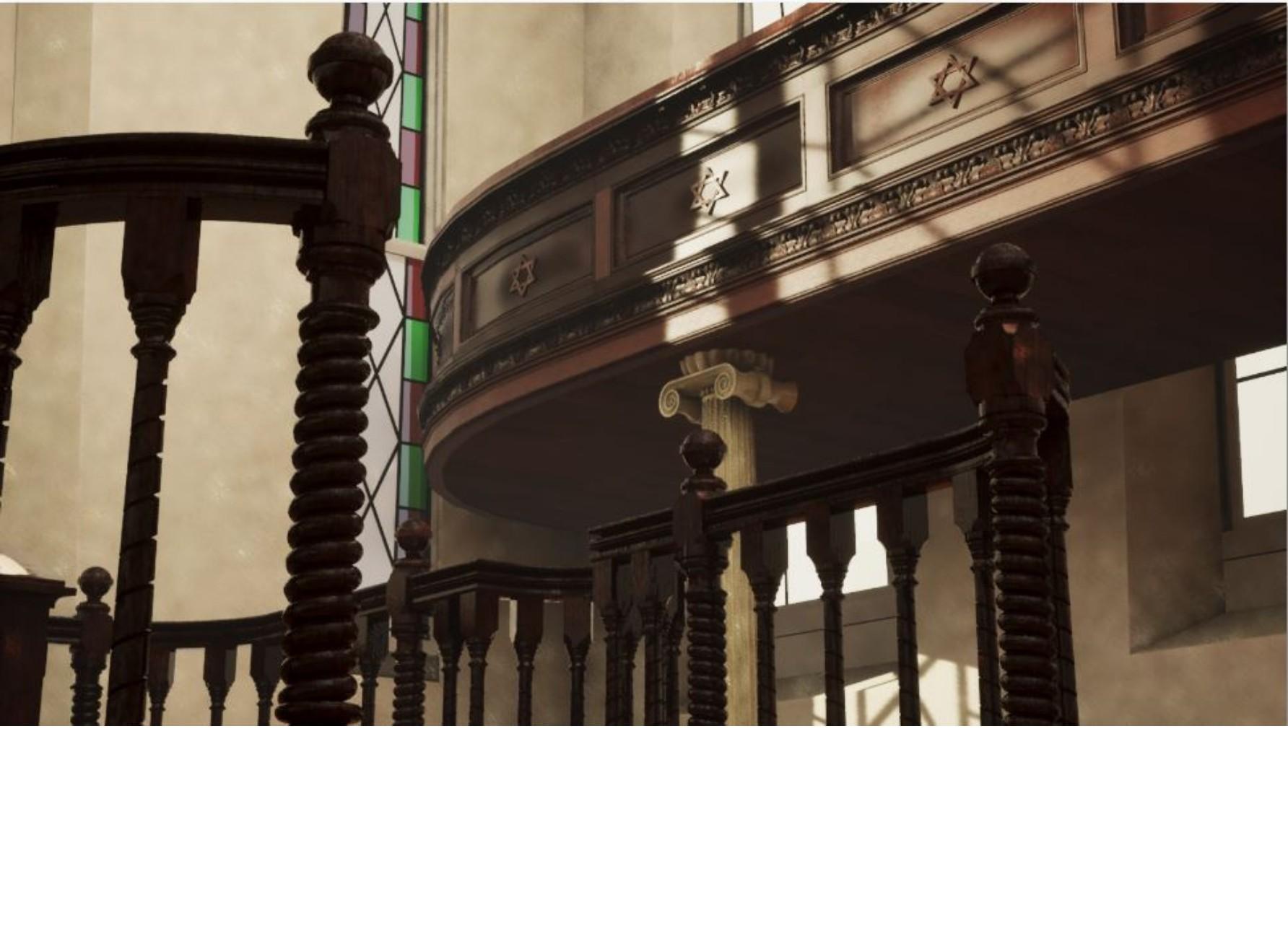 "<span class=""slider_description"">6 of 6. Ornamental details inside the York Street Synagogue. Virtual reconstruction 2021.</span>"