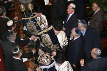 Torah Scroll procession