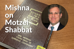 mishna on motzei shabbat with ephraim diamond - image