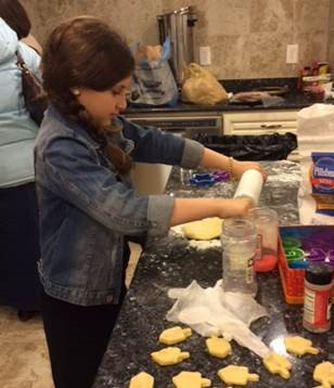 """<span class=""""slider_description"""">Cookie Production in the Shul Kitchen</span>"""
