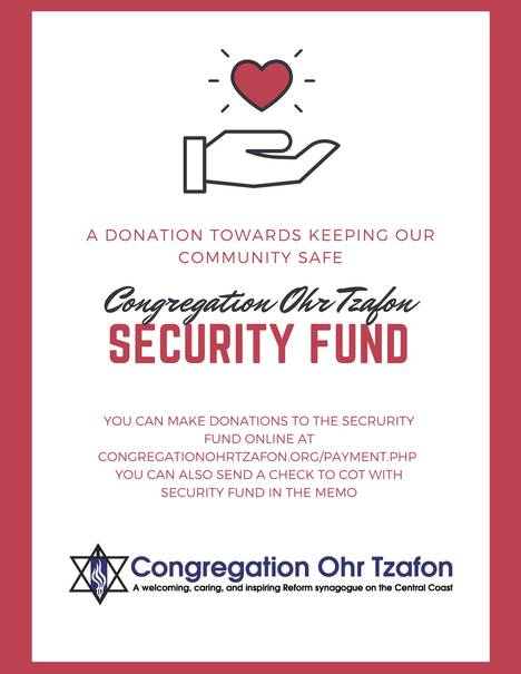 Monthly Newsletter - Congregation Ohr Tzafon