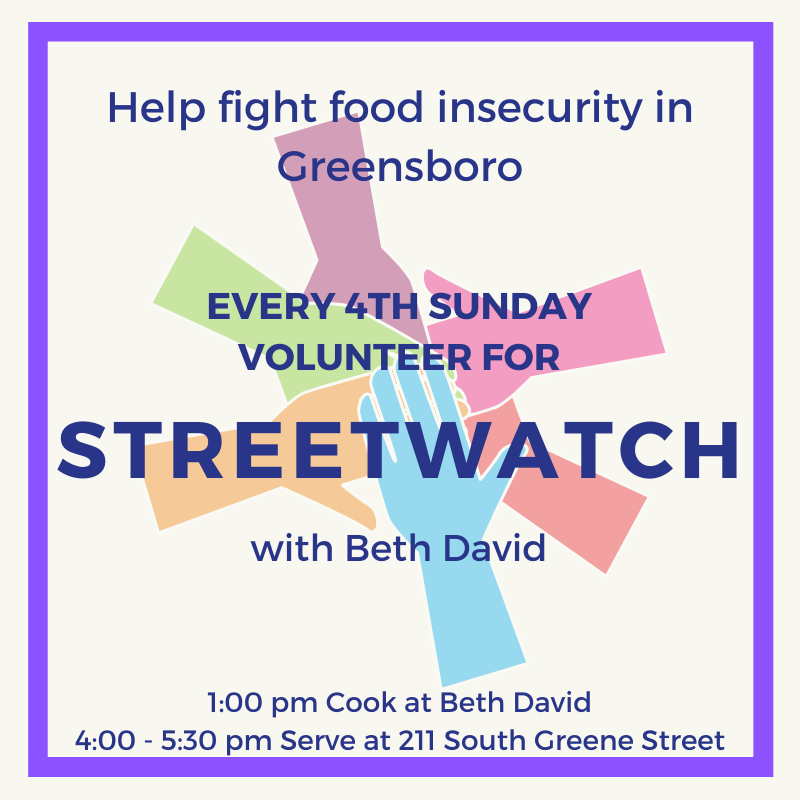 Banner Image for Beth David Synagogue & StreetWatch: Fight Hunger Together