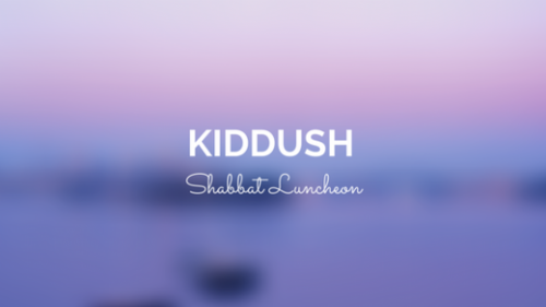 Banner Image for Kiddush Sponsored by Ira and Rhona Schreck in Honor of the Birth of Their Granddaughter