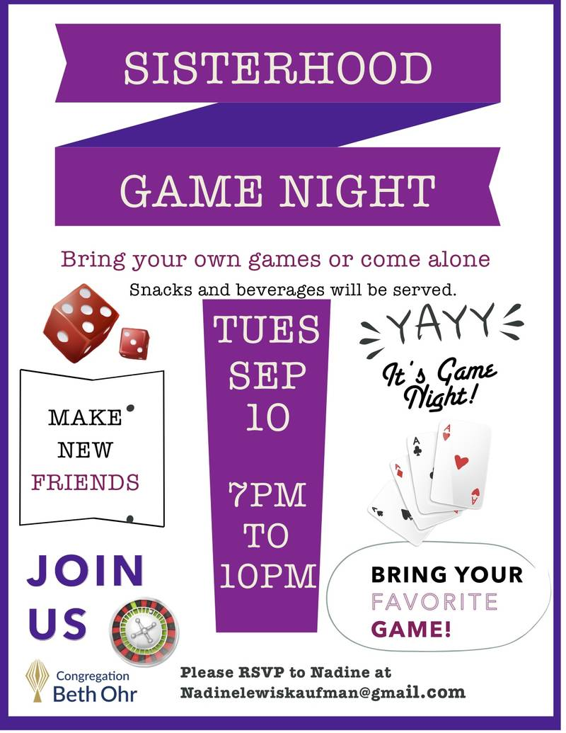 Sisterhood Game Night