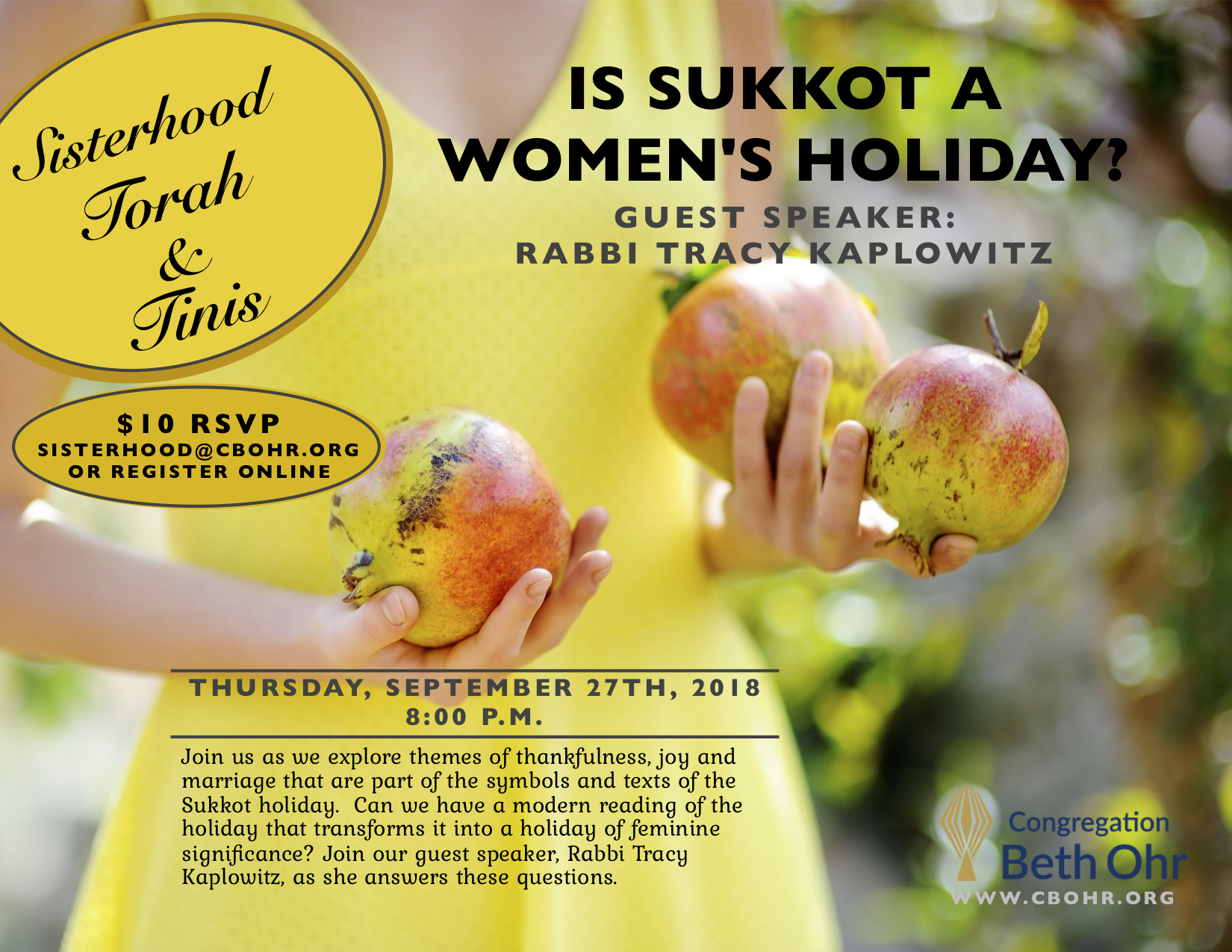 Sisterhood in the Sukkah: Is Sukkot a Woman's Holiday?