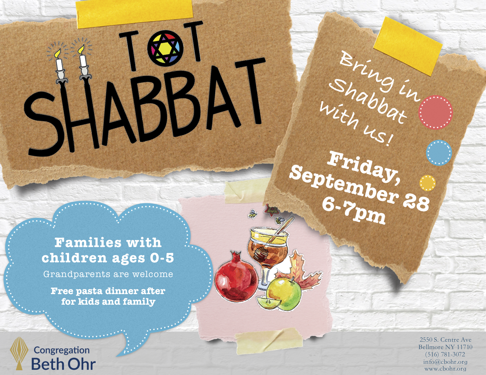 Tot Shabbat: for families with children ages 0-5