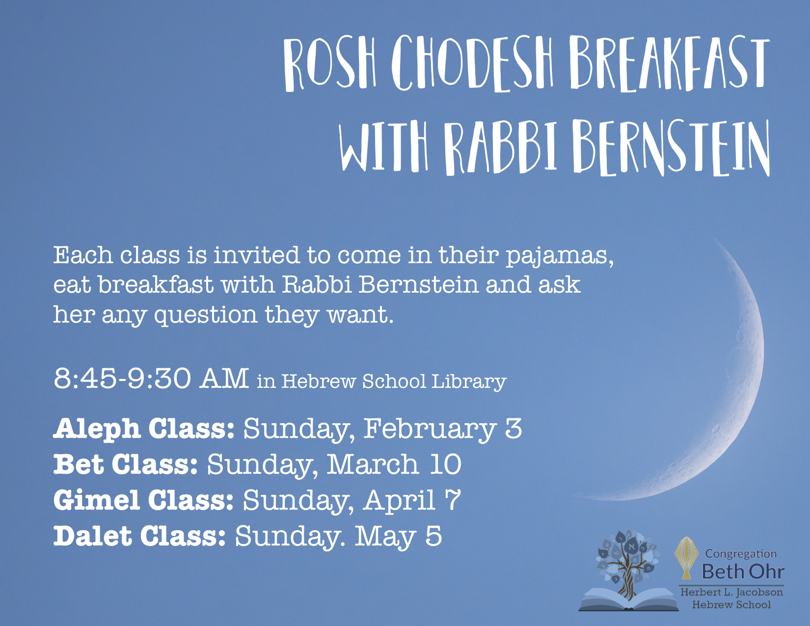 Bet Rosh Chodesh Breakfast