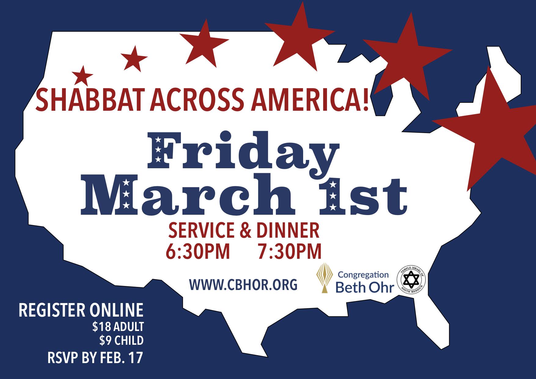 Shabbat Across America: Service & Dinner