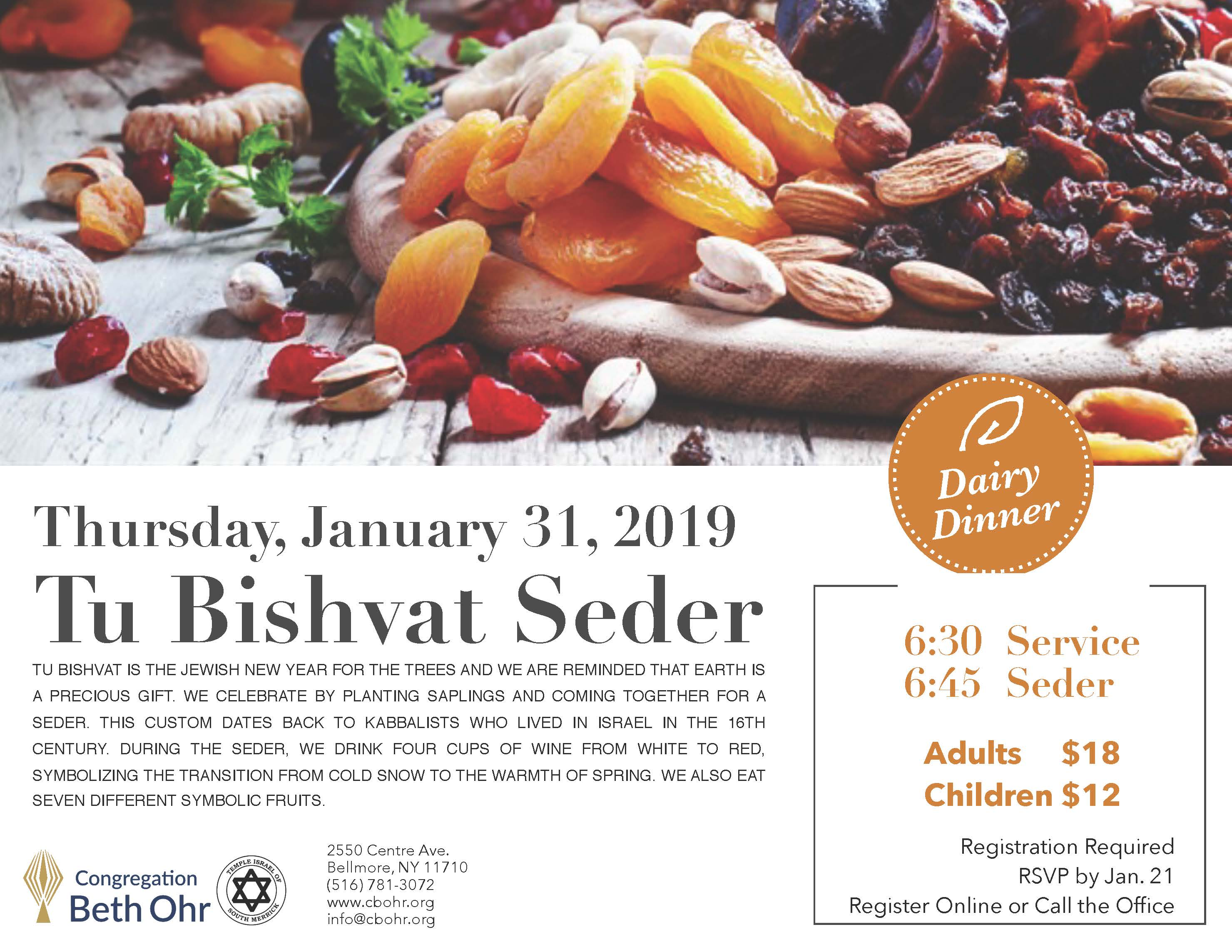 Tu Bishvat Service and Seder