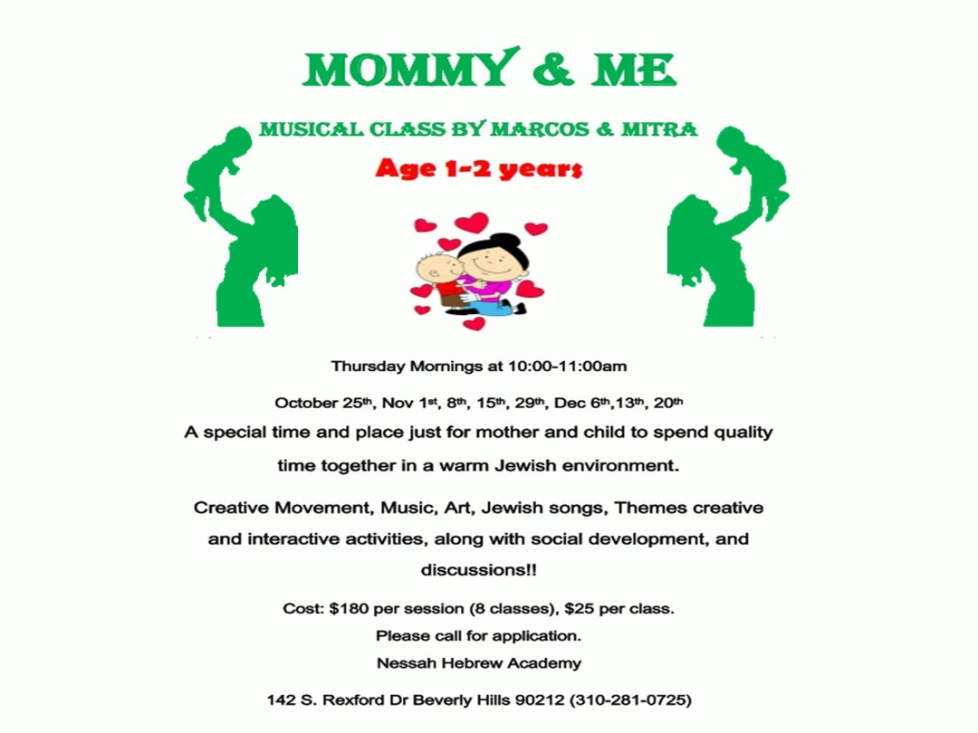 Mommy & Me - Event - Nessah Educational and Cultural Center