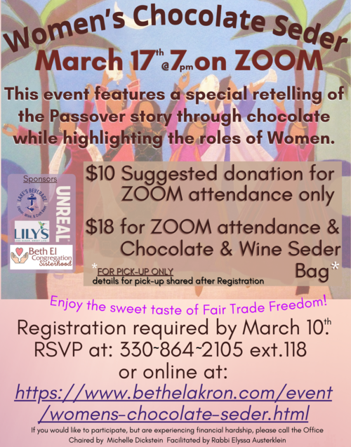 Banner Image for Women's Chocolate Seder