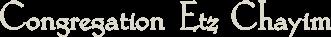 Logo for Congregation Etz Chayim