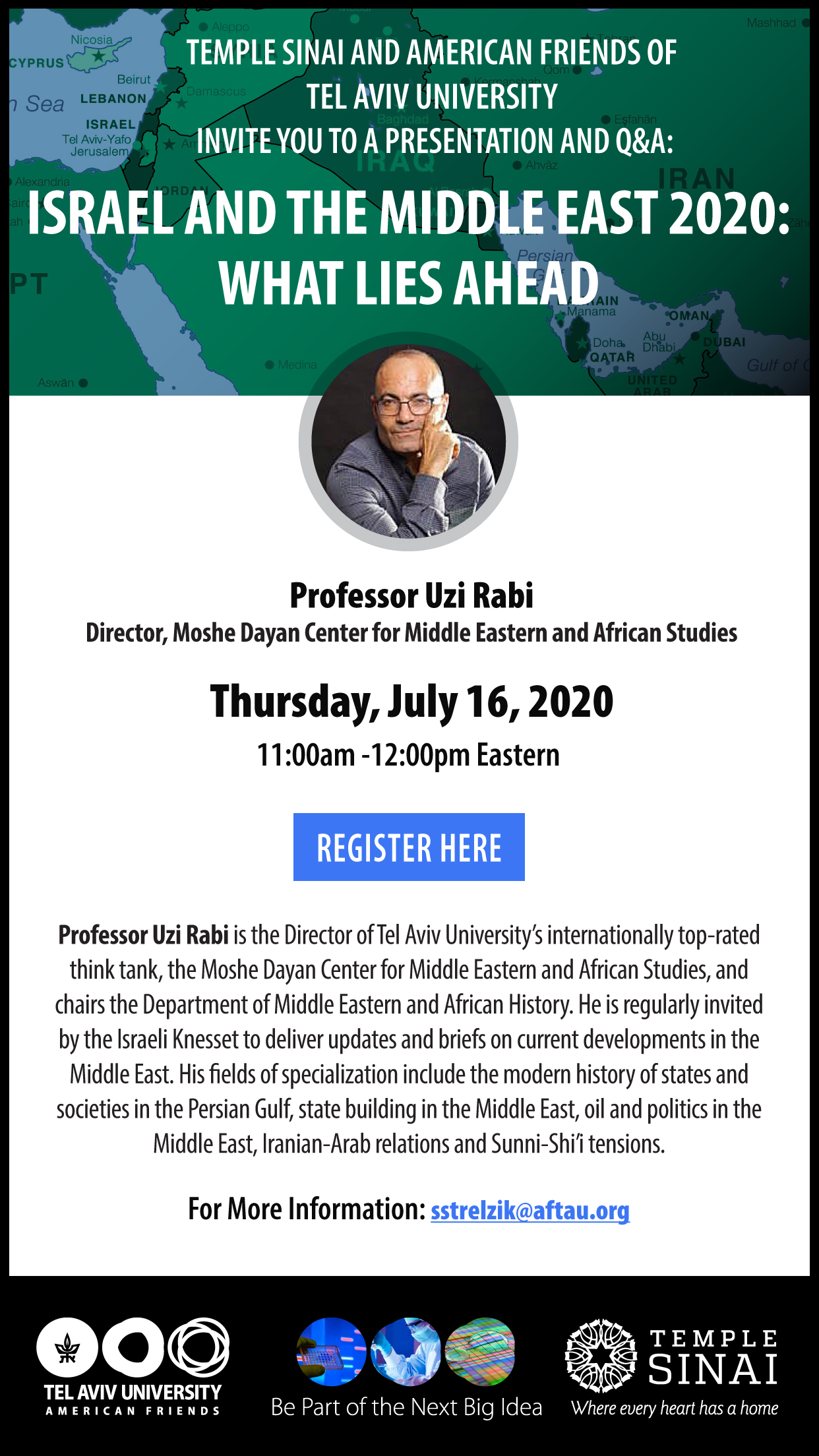 Banner Image for The Middle East: A Changing Political Landscape with Professor Uzi Rabi