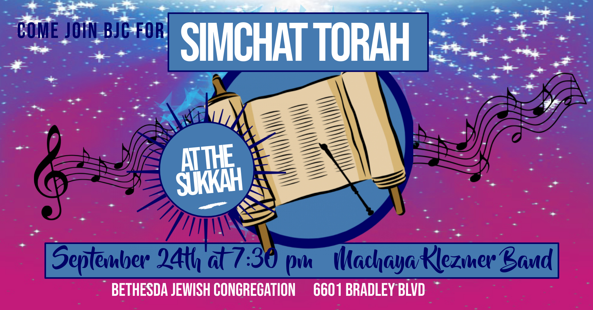 """<a href=""""https://www.bethesdajewish.org/event/simchattorah""""                                     target=""""_blank"""">                                                                 <span class=""""slider_title"""">                                     Simchat Torah at the Sukkah                                </span>                                                                 </a>                                                                                                                                                                                       <span class=""""slider_description"""">Come join BJC for singing and prayer as we finish the Torah!</span>"""