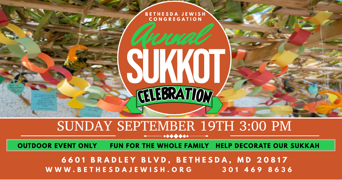 """<a href=""""www.bethesdajewish.org/event/sukkot""""                                     target=""""_blank"""">                                                                 <span class=""""slider_title"""">                                     Annual Sukkot Celebration                                </span>                                                                 </a>                                                                                                                                                                                       <span class=""""slider_description"""">Get ready for one of the year's most joyous holidays! Bring the family and come help decorate the BJC Sukkah on September 19th, at 3 pm outdoors. Arts and crafts, fun, and a snack will be the perfect way to kick off Sukkot.</span>"""