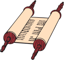 clipart of torah (scroll)