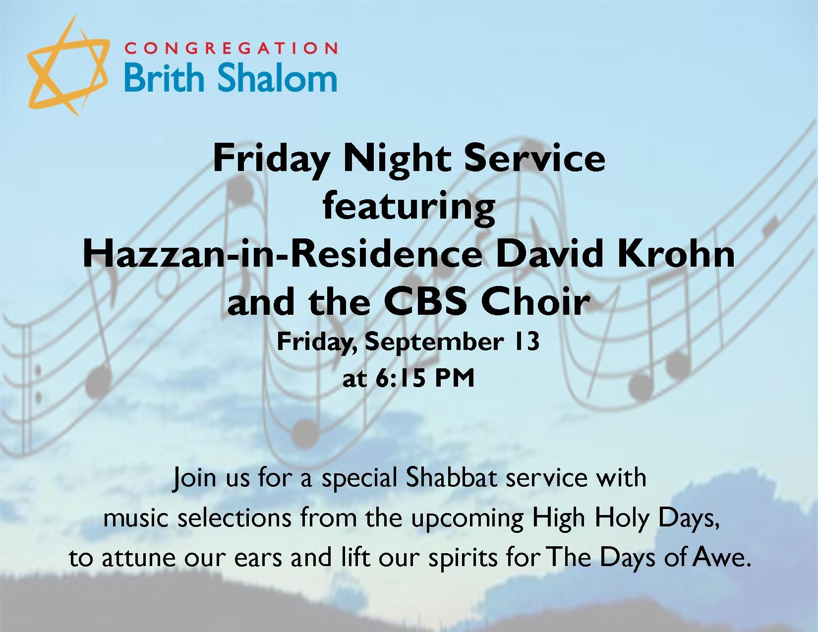 Banner Image for Friday Night Service featuring the CBS Choir