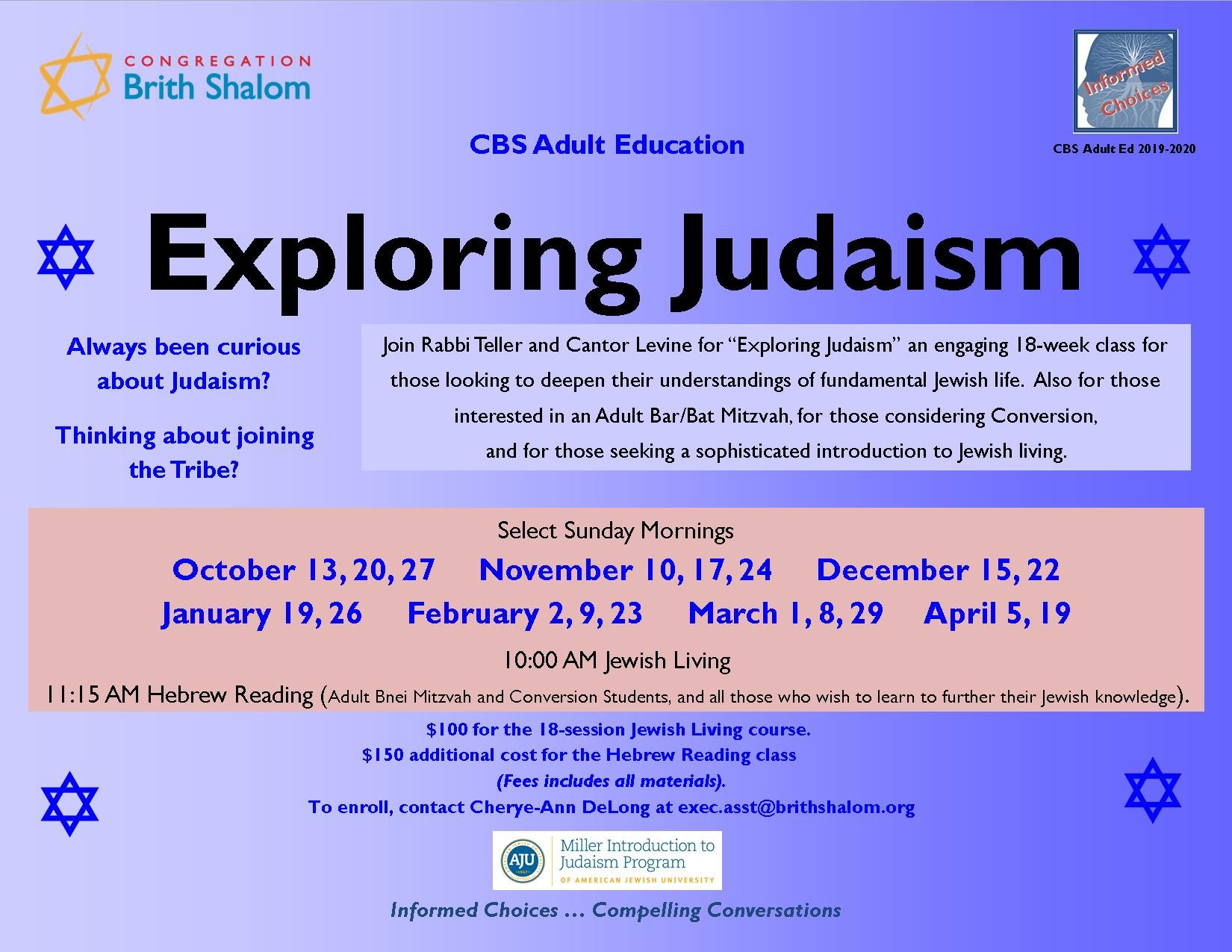 Banner Image for Exploring Judaism