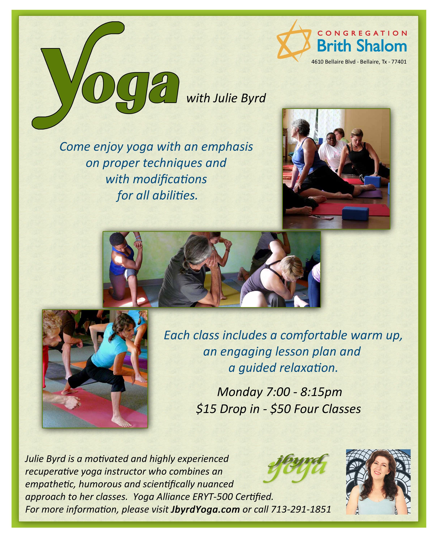 Banner Image for Yoga with Julie Byrd