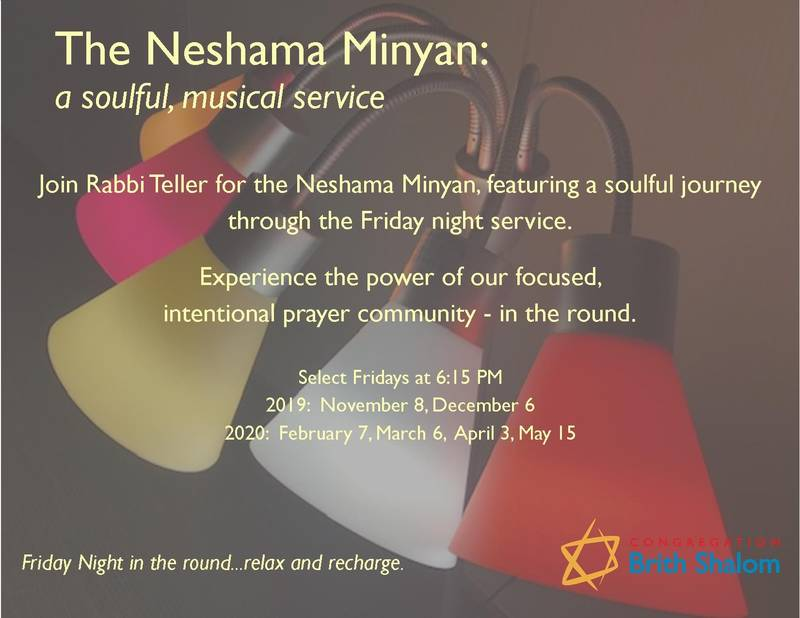 Banner Image for The Neshama Minyan