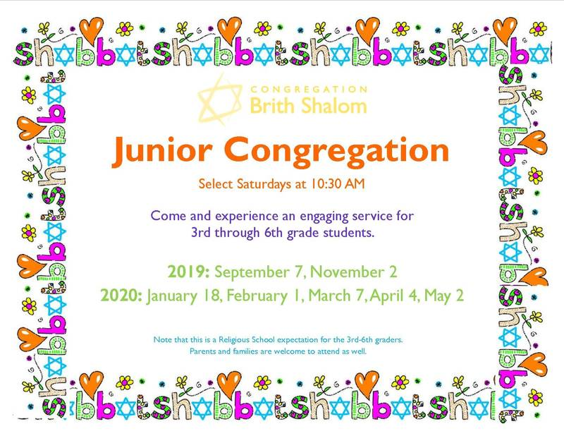 Banner Image for NEW DATE Junior Congregation