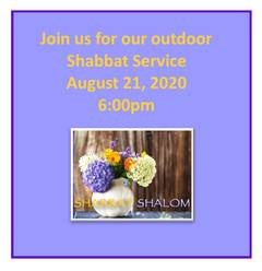 Outdoor and Zoom Shabbat Service