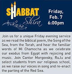 Shabbat Shirah Service