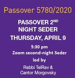 Zoom Second Night Seder