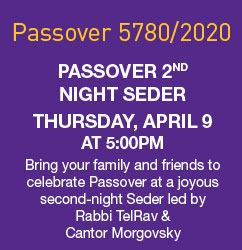 Congregational Second Night Seder