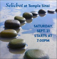 Selichot Program & Service