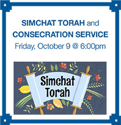 Simchat Torah, Consecration and Shabbat Service