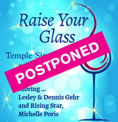 Temple Sinai Gala - Postponed