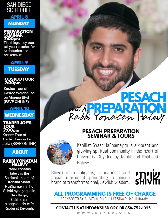 Pesach Seminar and Tours - Event - Kehillat Shaar HaShamayim