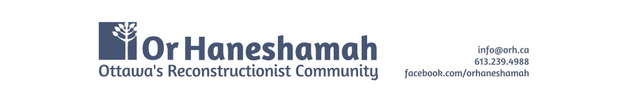 Logo for Or Haneshamah - Ottawa's Reconstructionist Community