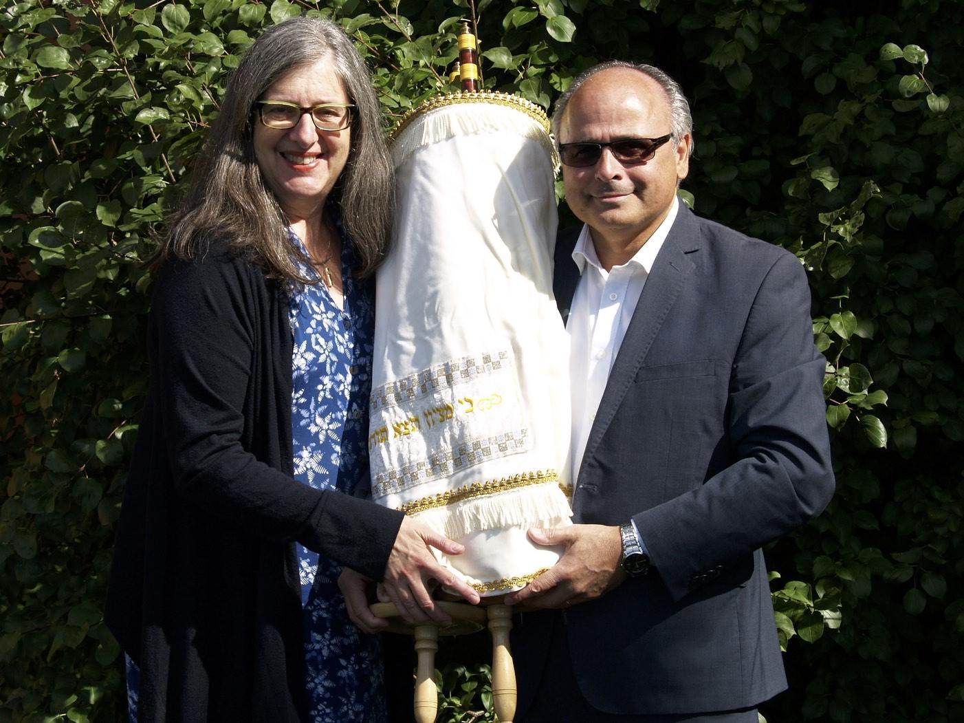 Rabbi Liz and Cantor Benlolo
