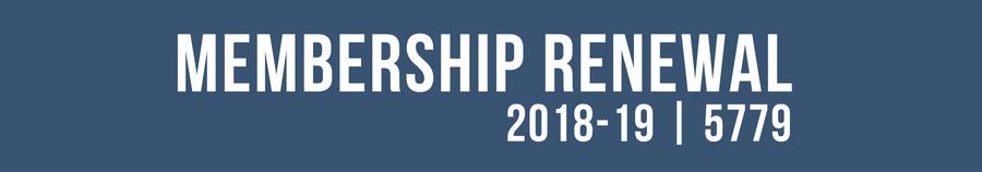 members renewal for 2018-19