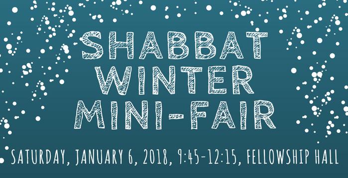 Shabbat Winter Mini-Fair
