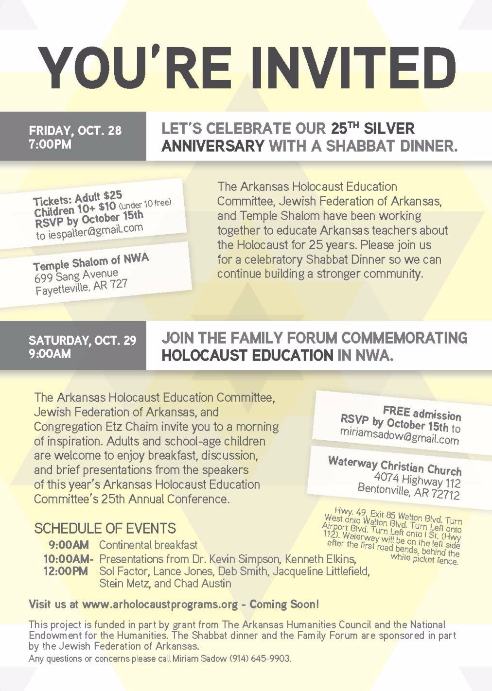 WU@CEC: Yom Kippur Services + Sisterhood Lunch