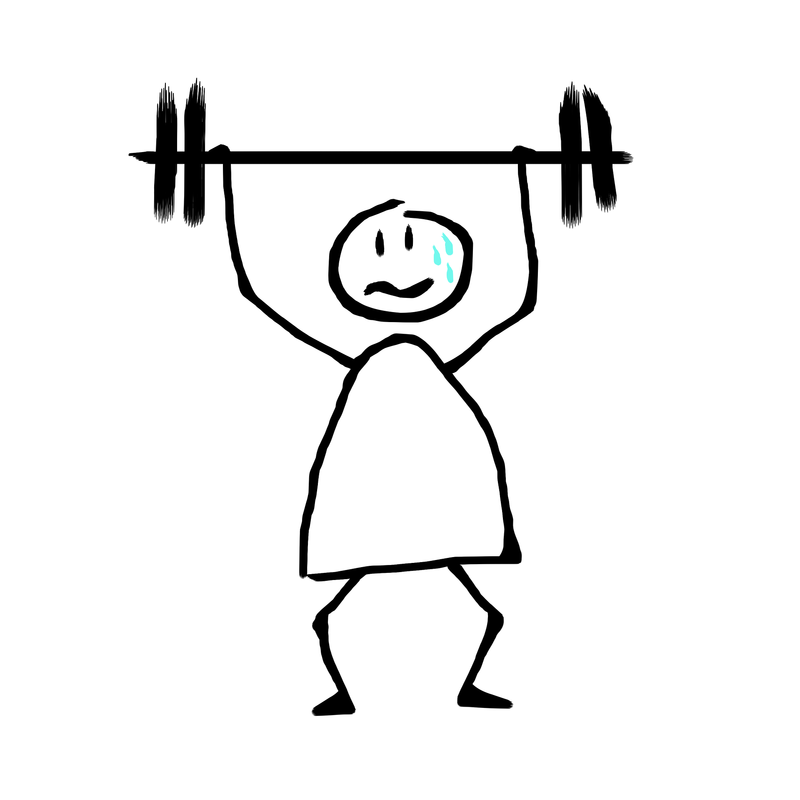 weightlifting stick figure - image by ElisaRiva from Pixabay