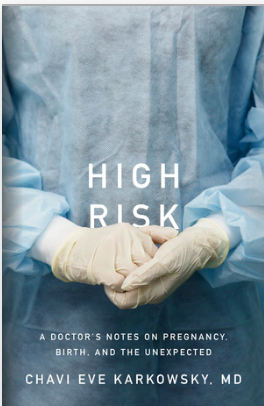 book cover for High Risk, doctor's gloved hands