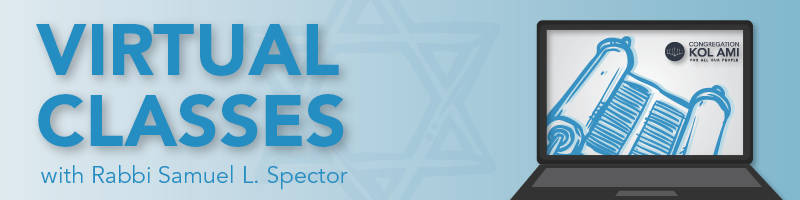 Virtual Classes with Rabbi Samuel L. Spector