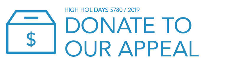 High Holidays 5780 / 2019: Donate to our Appeal