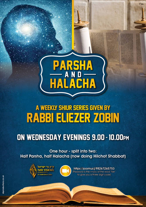 Banner Image for Parsha & Halacha Shiur given by Rabbi Zobin