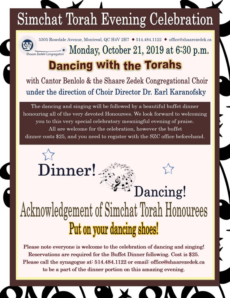 Banner Image for Simchat Torah Evening - Buffet Dinner