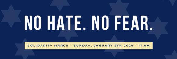 No Hate. No Fear. Solidarity March