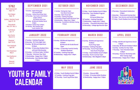 Youth Family Calendar 5782