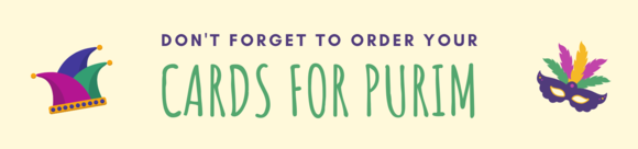 Order Purim Greetings