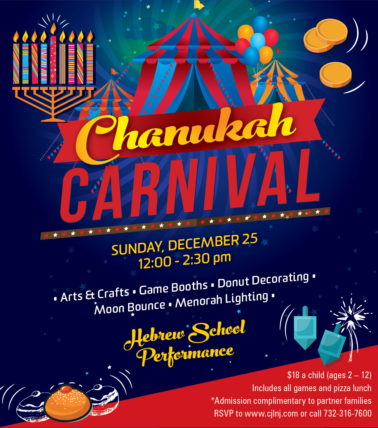 Chanukah Carnival 2016 Event Center For Jewish Life