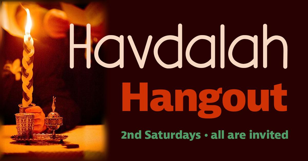 Banner Image for Havdalah Hangout